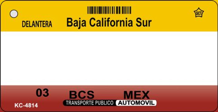 Baja California Sur Blank Background Wholesale Aluminum Key Chain KC-4814