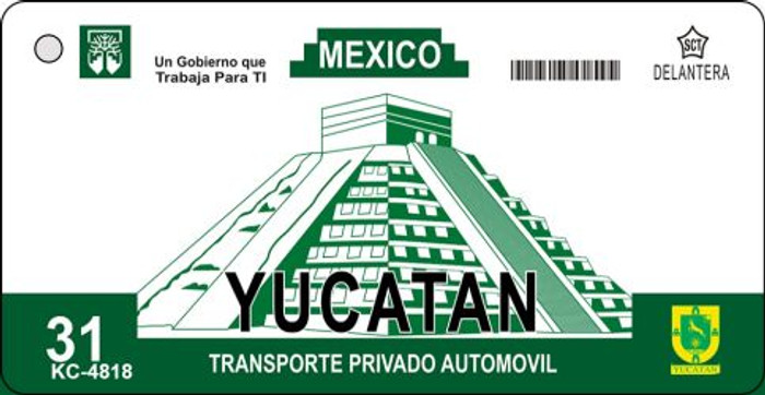 Yucatan Blank Background Wholesale Aluminum Key Chain KC-4818
