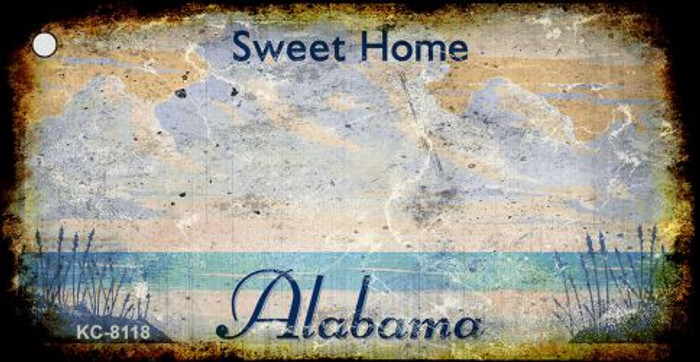 Alabama Rusty Blank Background Wholesale Aluminum Key Chain KC-8118
