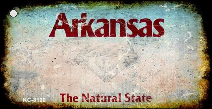 Arkansas Rusty Blank Background Wholesale Aluminum Key Chain KC-8120