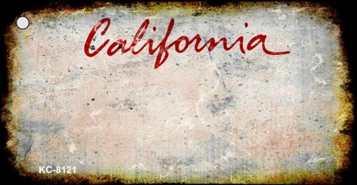 California Rusty Blank Background Wholesale Aluminum Key Chain KC-8121