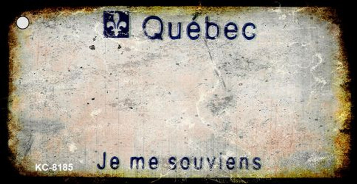 Quebec Rusty Blank Background Wholesale Aluminum Key Chain KC-8185