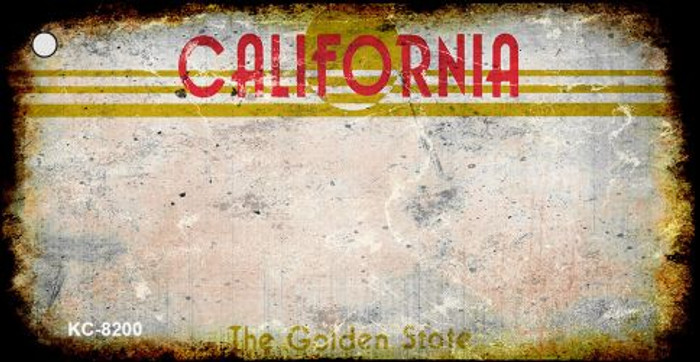California Rusty Blank Background Wholesale Aluminum Key Chain KC-8200