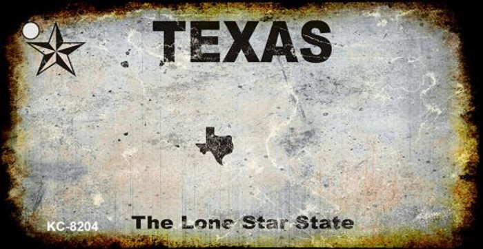 Texas Rusty Blank Background Wholesale Aluminum Key Chain KC-8204