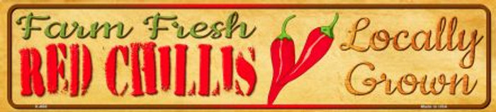 Farm Fresh Red Chillis Wholesale Mini Street Sign K-666