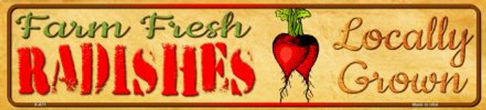 Farm Fresh Radishes Wholesale Mini Street Sign K-671