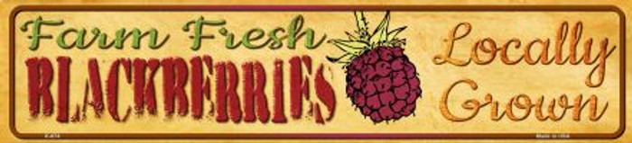 Farm Fresh Blackberries Wholesale Mini Street Sign K-674
