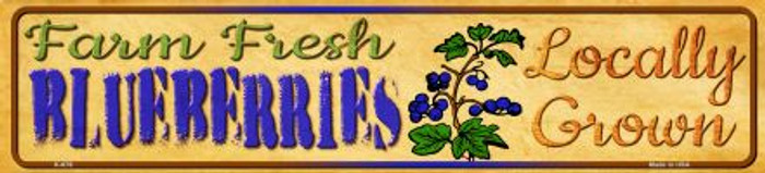 Farm Fresh Blueberries Wholesale Mini Street Sign K-676