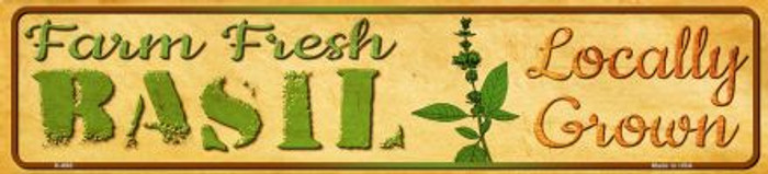 Farm Fresh Basil Wholesale Mini Street Sign K-698