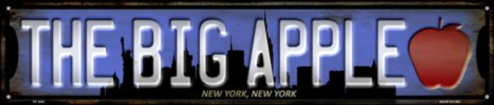 New York The Big Apple Wholesale Novelty Metal Street Sign ST-1243