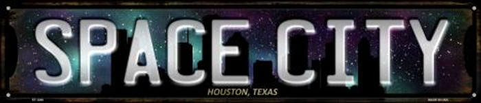Houston Texas Space City Wholesale Novelty Metal Street Sign ST-1248