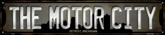 Detroit Michigan The Motor City Wholesale Novelty Metal Street Sign ST-1257