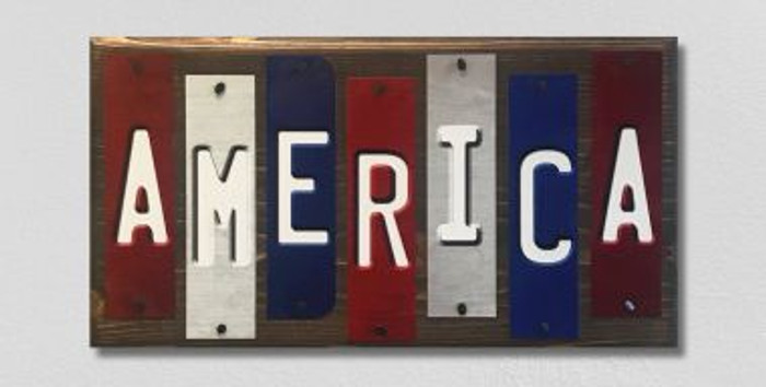 America Fun Strips Wholesale Novelty Wood Sign WS-020