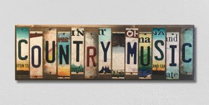 Country Music License Plate Strip Wholesale Novelty Wood Sign WS-022