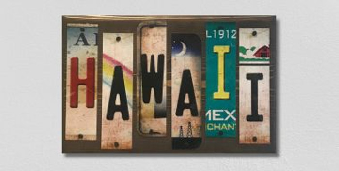 Hawaii License Plate Strip Wholesale Novelty Wood Sign WS-031