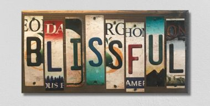 Blissful License Plate Strip Wholesale Novelty Wood Sign WS-060