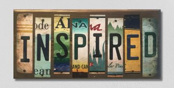Inspired License Plate Strip Wholesale Novelty Wood Sign WS-061