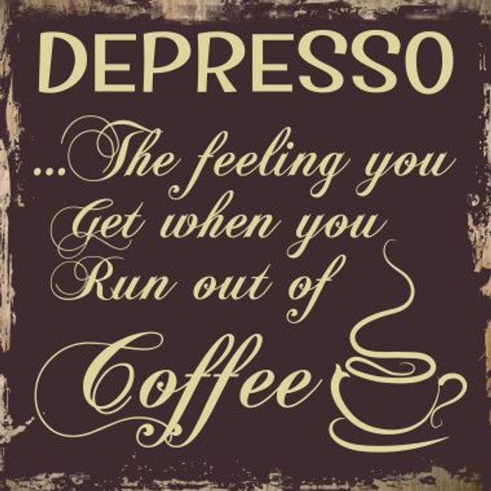 Depresso Wholesale Novelty Square Sign SQ-325