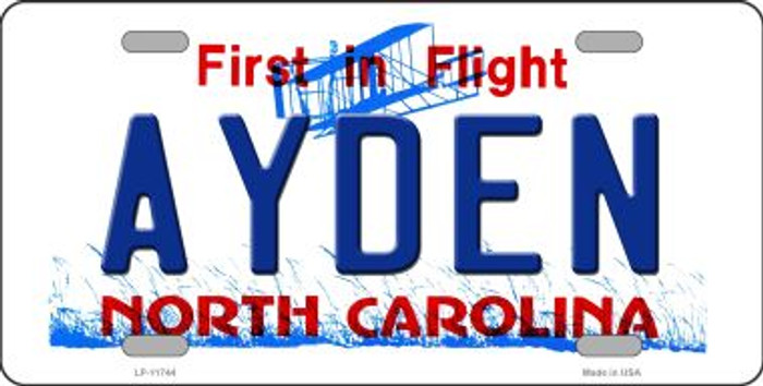 Ayden North Carolina Wholesale State License Plate LP-11744