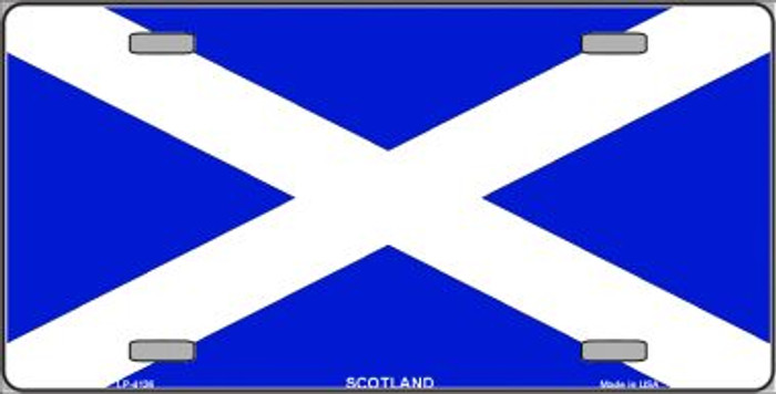 Scotland Flag Wholesale Metal Novelty License Plate LP-4136
