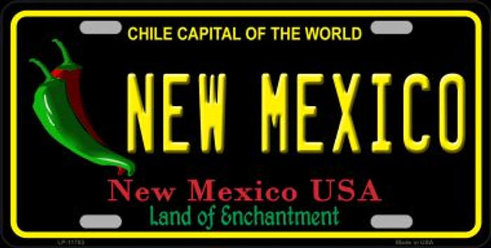 New Mexico Black Wholesale State License Plate LP-11753