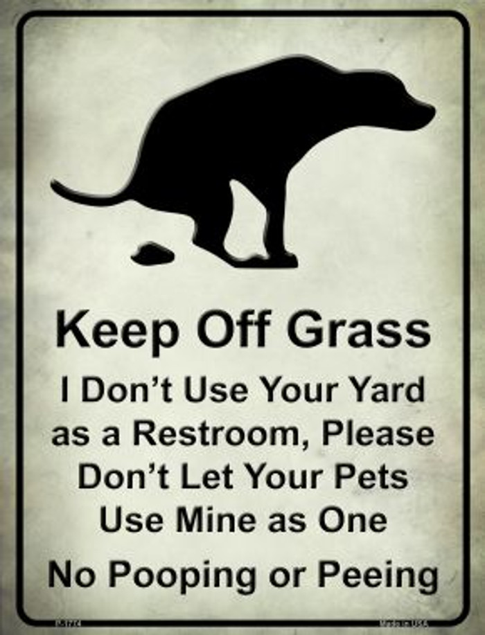 Keep Off Grass Wholesale Novelty Parking Sign P-1774