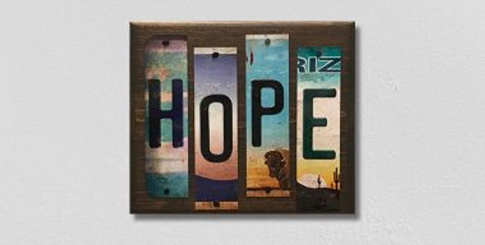 Hope License Plate Strips Wholesale Novelty Wood Sign WS-115