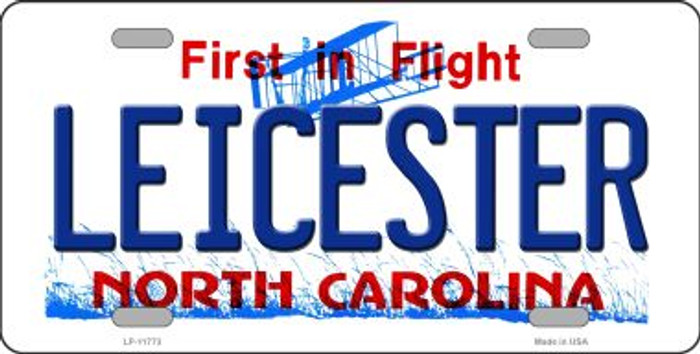 Leicester North Carolina State Wholesale Novelty License Plate LP-11773