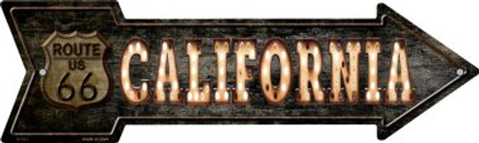 California Route 66 Bulb Letters Wholesale Novelty Metal Arrow Sign A-423