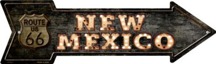 New Mexico Route 66 Bulb Letters Wholesale Novelty Metal Arrow Sign A-425