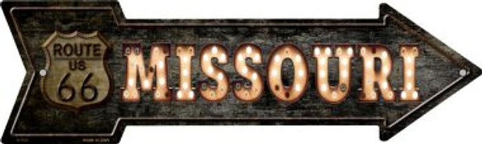 Missouri Route 66 Bulb Letters Wholesale Novelty Metal Arrow Sign A-429
