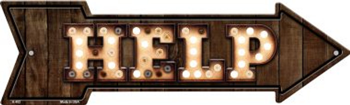 Help Bulb Letters Wholesale Novelty Arrow Sign A-452