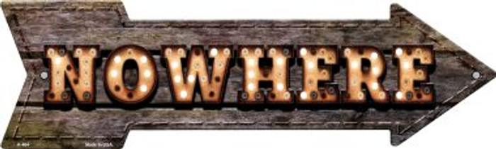 Nowhere Bulb Letters Wholesale Novelty Arrow Sign A-464