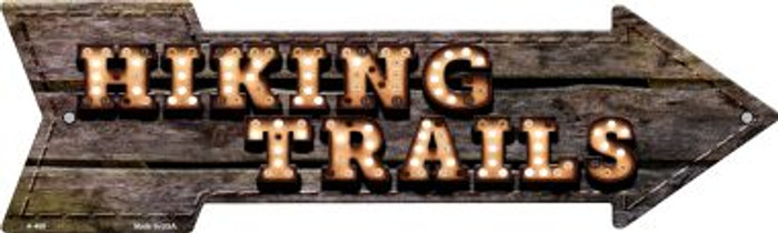 Hiking Trails Bulb Letters Wholesale Novelty Arrow Sign A-468