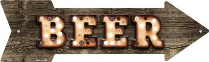 Beer Bulb Letters Wholesale Novelty Arrow Sign A-495