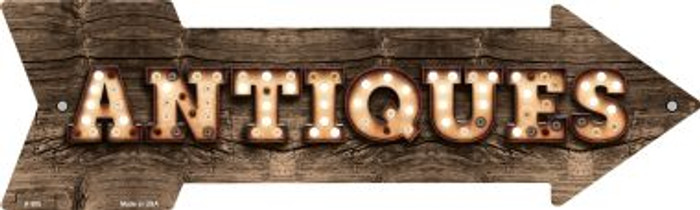 Antiques Bulb Letters Wholesale Novelty Arrow Sign A-508