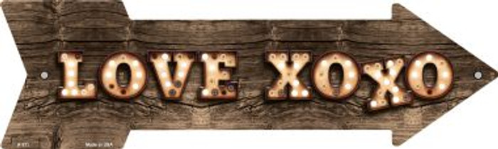 Love XOXO Bulb Letters Wholesale Novelty Arrow Sign A-511