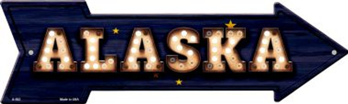 Alaska Bulb Lettering With State Flag Wholesale Novelty Arrows A-582