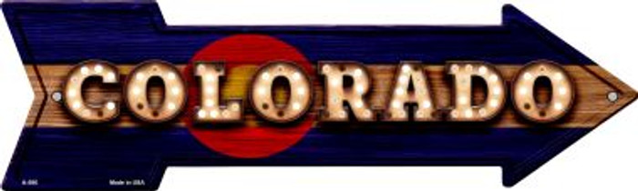Colorado Bulb Lettering With State Flag Wholesale Novelty Arrows A-586