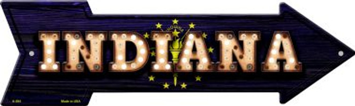 Indiana Bulb Lettering With State Flag Wholesale Novelty Arrows A-594