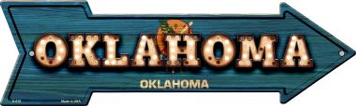 Oklahoma Bulb Lettering With State Flag Wholesale Novelty Arrows A-616