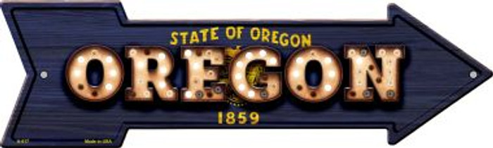 Oregon Bulb Lettering With State Flag Wholesale Novelty Arrows A-617