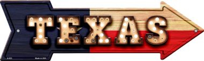 Texas Bulb Lettering With State Flag Wholesale Novelty Arrows A-623