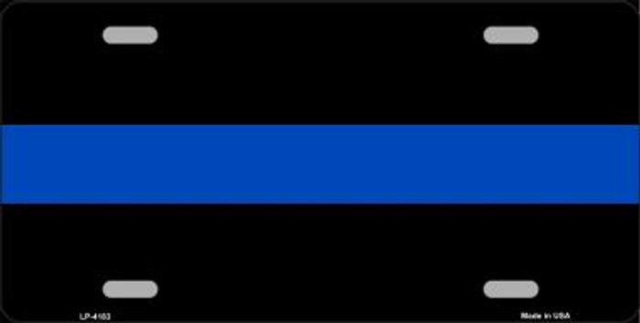 Thin Blue Line Police Wholesale Metal Novelty License Plate