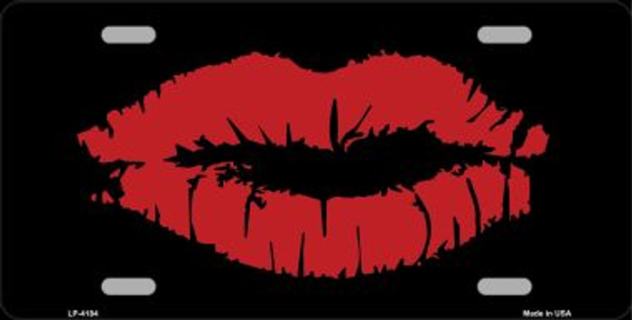 Full Red Lips Wholesale Metal Novelty License Plate LP-4184