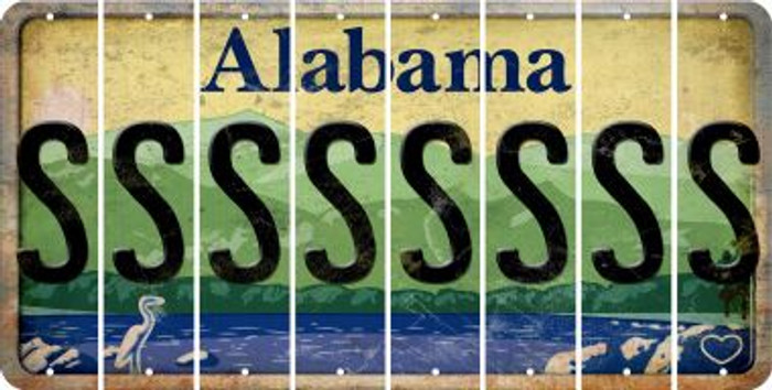 Alabama S Cut License Plate Strips (Set of 8) LPS-AL1-019