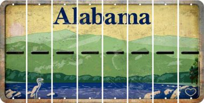 Alabama HYPHEN Cut License Plate Strips (Set of 8) LPS-AL1-044