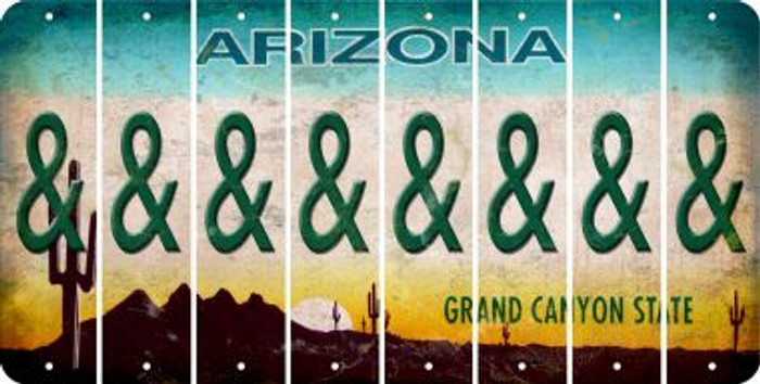 Arizona AMPERSAND Cut License Plate Strips (Set of 8) LPS-AZ1-049