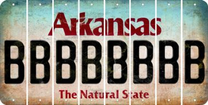 Arkansas B Cut License Plate Strips (Set of 8) LPS-AR1-002
