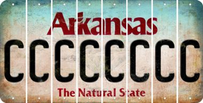 Arkansas C Cut License Plate Strips (Set of 8) LPS-AR1-003